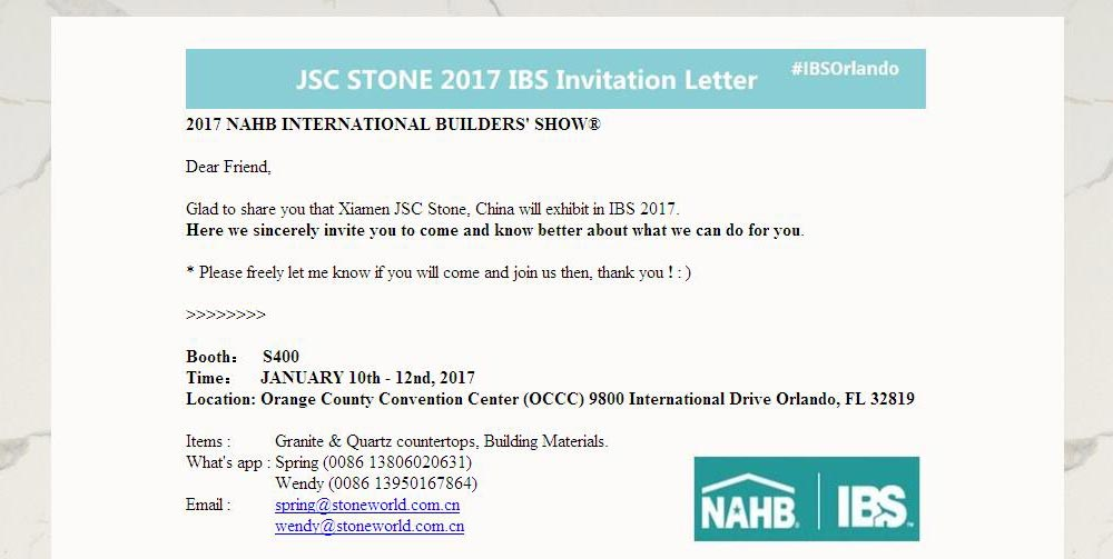 Looking to Meeting You again in 2017 IBS, Jan. 10-12th news & expo. 2