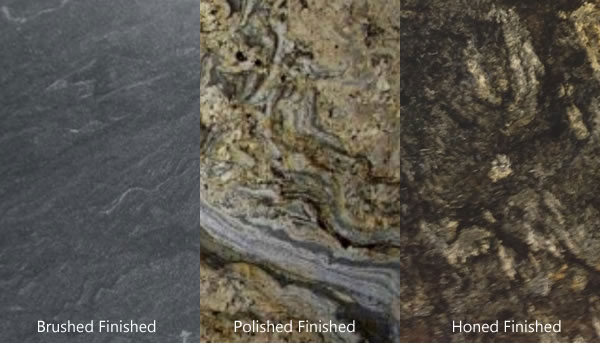 Granite countertops come in a variety of surface finishes: Polished, Honed or Brushed press releases